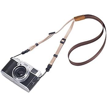 DOROM Universal Adjustable Slim Shoulder Sling Neck Strap for All Camera DSLR SLR (Coffee Brown)