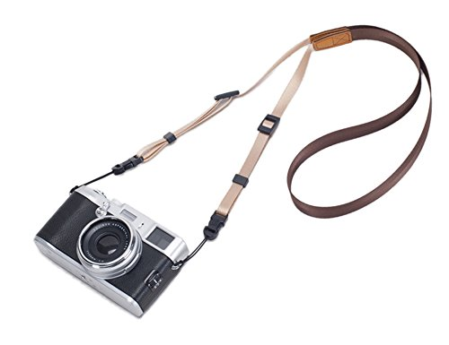 DOROM Universal Adjustable Slim Shoulder Sling Neck Strap for All Camera DSLR SLR (Coffee Brown)