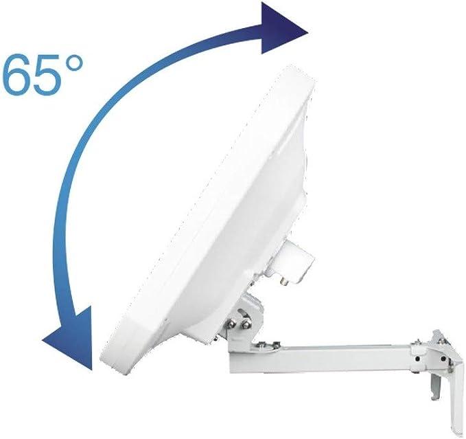 Metronic 498144 antena de Satellite Plate H + V con LNB integrado