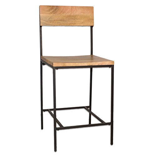 Carolina Chair & Table 12024NMNGTBK Durham Counter, 24-Inch Stool, Natural/Black