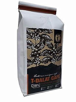 T-Dalat Café 100% Organic Specialty Grade Coffee, Medium Roast, Ground, 8.8 Ounce Bag