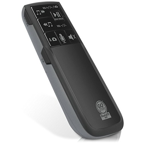 GOgroove Bluetooth Multimedia Remote Control - Wireless Camera Shutter , Audio Playback Controls and Voice Activated Commands - Compatible with Apple , Samsung , LG and More Smartphones