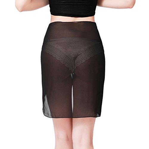 5e68abd36f ChinFun Women s Soft Wrap Beach Swimwear Short Knee Length Long Cover up  Pareo Swimsuit