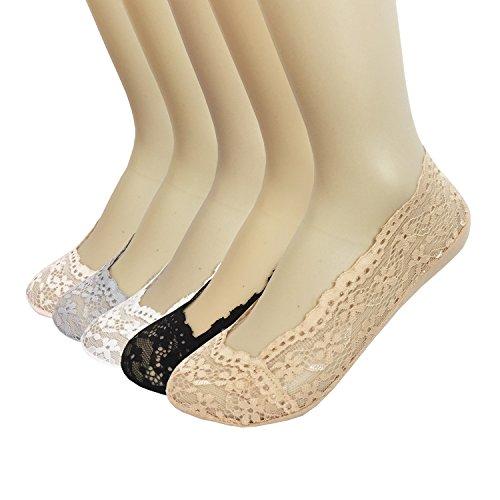 Oureamod Women Floral Hidden Socks