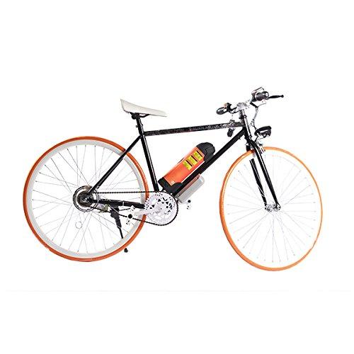 ELECTRIC Fixie Bike 350W 33MPH Alien Motor Wheels TM (BLACK/ORANGE/WHITE/ORANGE)