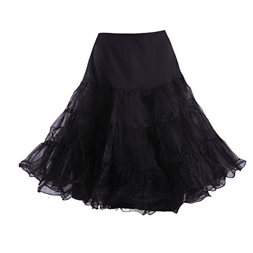 (HDE Women's Plus Size Petticoat Vintage Swing Dress Underskirt Tutu Skirt (XX-Large,)
