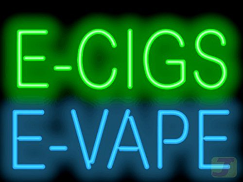 E-Cigs E-Vape Neon Sign by Jantec Sign Group