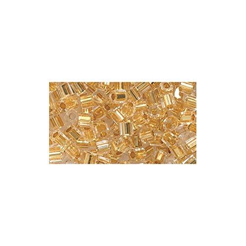 Shipwreck Beads 8/0 8c-195 Miyuki Seed Hex Cut Bead, 24 Karat Gold Line Crystal ()