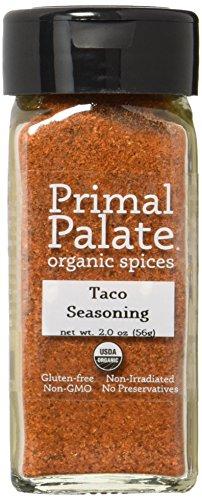 Primal Palate Organic Spices Taco Seasoning, Certified Organic, 2.0 oz Bottle