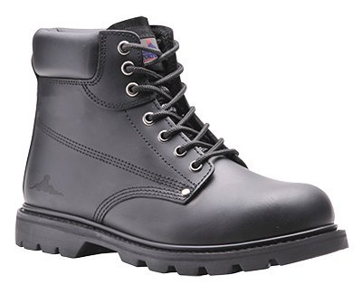 6 Inch Welted (Portwest FW16BKR39 Steelite Welted Safety Boot, 39/6 SBP, 6