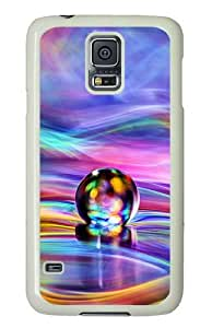 Samsung Galaxy S5 Case and Cover - Colorful Drops PC Hard Case Cover for Samsung Galaxy S5 White