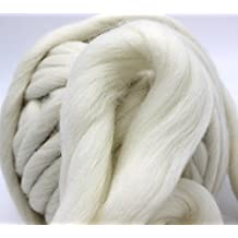 FloraKnit 100% Merino Wool Super Chunky Yarn (40mm-33 Yards, CREAM) …