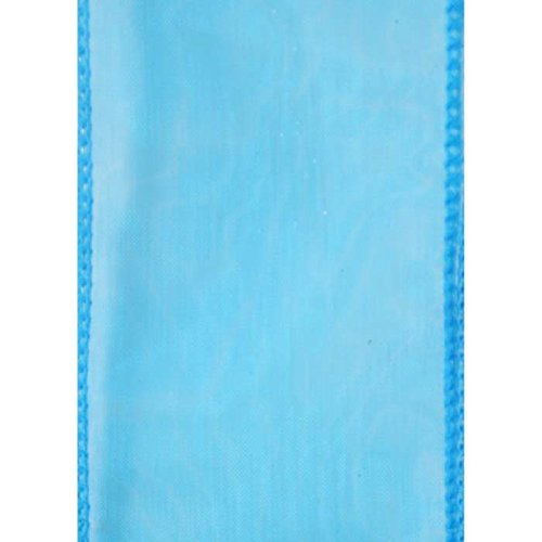 Berwick Offray Sensation Wired Edge Sheer Ribbon, 2-1/2 x 50 yd, Turquoise by Berwick Offray