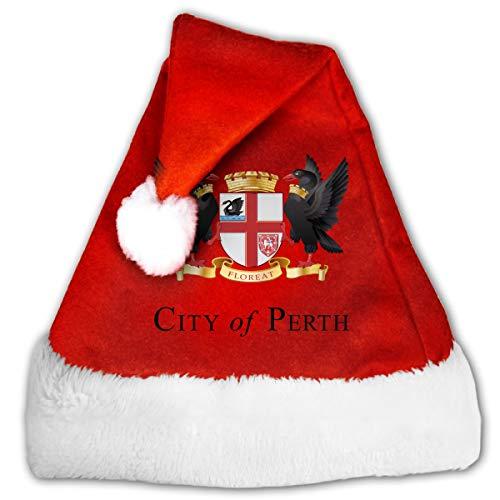 FQWEDY Coat of Arms of Perth Sign Unisex-Adult's Santa Hat, Velvet Christmas Festival Hat]()
