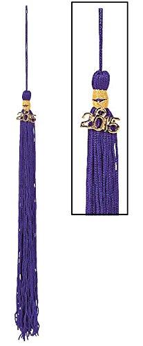 """2015 Purple Tassels (12 Pack) Approx. 9"""". Graduation."""