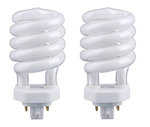 3 Way Compact Fluorescent Bulbs - EiKO 05252 Model SP26/27-4P Compact Fluorescent Spiral Light Bulb, 26 Watts, GX24q-3 Base, T-4 Bulb - 2 Pack