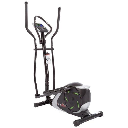 Ultrasport XT-Trainer 800A Crosstrainer/Ellipsentrainer mit Handpuls-Sensoren inkl. Trinkflasche