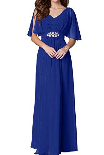 trapecio para real mujer Vestido azul Topkleider 5T0wqRUU