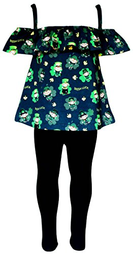 Unique Baby Girls St Patrick's Day Leprechaun Sleeveless Tank Outfit - St Spring 7