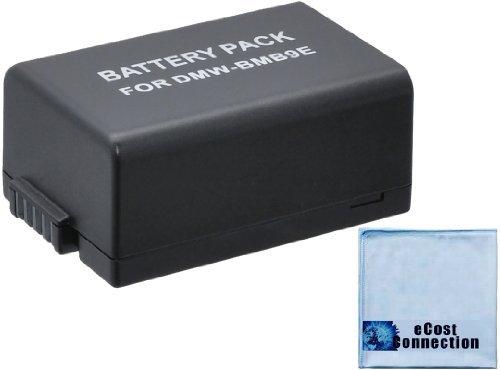Replacement (1) DMW-BMB9 Battery for Panasonic Lumix DMC-FZ40K, DMC-FZ45K, DMC-FZ47K, DMC-FZ48K, DMC-FZ60, DMC-FZ70, DMC-FZ100, DMC-FZ150 Digital Cameras + Microfiber Cloth by eCost
