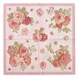 Floral Print Paper Napkins, Set of 30