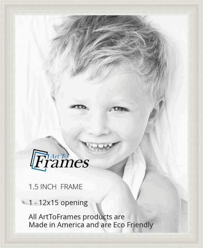 - ArtToFrames 12x15 inch  Off White Stain on Solid Wood Wood Picture Frame, 2WOM0066-78238-YWHT-12x15