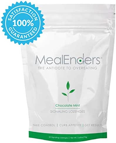 MealEnders Cravings Control Lozenges | Stop Overeating, Curb Cravings and Reduce Snacking | 25-Count Bag (Chocolate Mint)