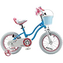 RoyalBaby Stargirl Girl's Bike with Training Wheels and Basket, Perfect Gift for Kids. 12 Inch, 14 Inch, 16 Inch, 18 inch, Blue or Pink