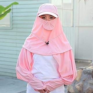 HUAIX Home Cappello Estivo Femminile Pieghevole Visiera Copertura Esterna Protezione Faccia Collo Bici Antivento Protezione Solare Protezione UV Cappello Solare