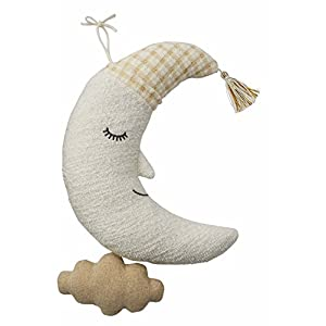 Mud Pie Cloud Moon Plush Pull String Musical Toy