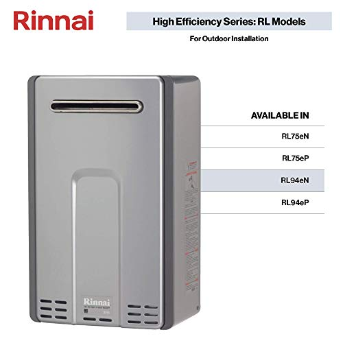 Gas Hot Water Heater Installation - Rinnai RL Series HE+ Tankless Hot Water Heater: Outdoor Installation