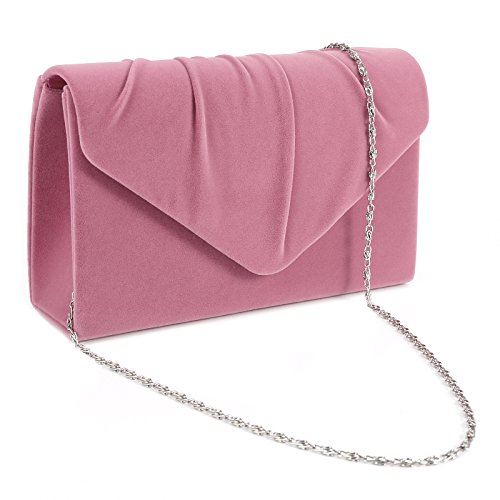 Women Pleated Envelope Clutch Bag Shoulder Bridal Purse Handbag For Wedding Prom