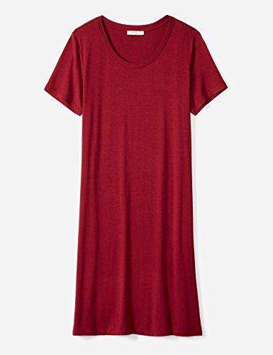 Daily-Ritual-Womens-Jersey-Short-Sleeve-Scoop-Neck-T-Shirt-Dress