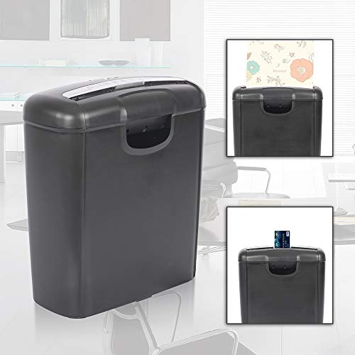 Paper Shredder 6-Sheet Strip-Cut Paper and Credit Card Shredder for Office Home Use