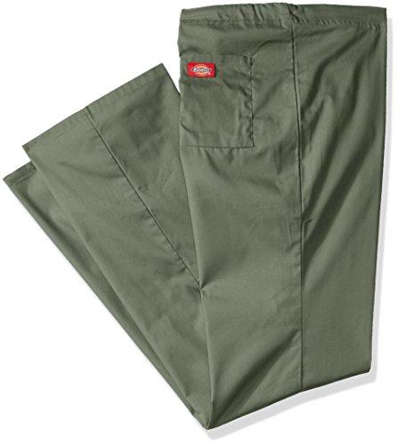 Dickies Mens Big And Tall Eds Signature Unisex Drawstring Scrub Pant  Olive  5X Large