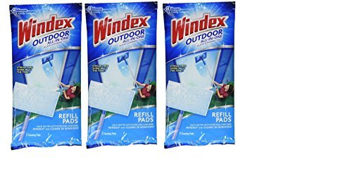 One Refill - WINDEX OUTDOOR ALL-IN-ONE PADS REFILL 2 CT 3 pack