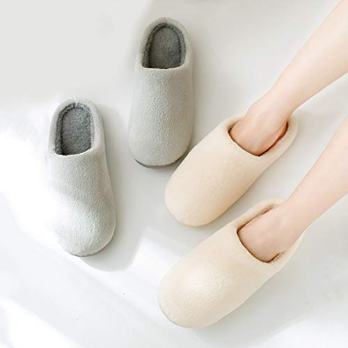 Gray with Slipper Enerhu House Slip Unisex Plush Indoor on Shoes Clog Slipper Home xqfq1wp7