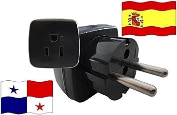 Adaptador de Viaje para España y Panamá ES/PA Enchufe de Viaje ...