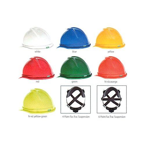 MSA 804396 Topgard Slotted Protective Cap with Fas-Trac Suspension, Standard, Bright Orange ()