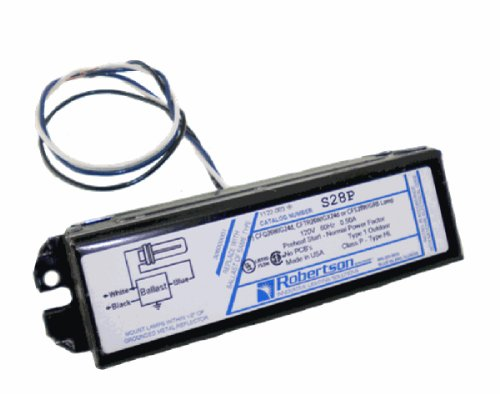 ROBERTSON 3M10078 S28P /C mBallast, Fluorescent, Preheat Start, 28 Watt CFL, 1 Lamp, 120Vac., 60Hz., (Npf Magnetic Ballast)