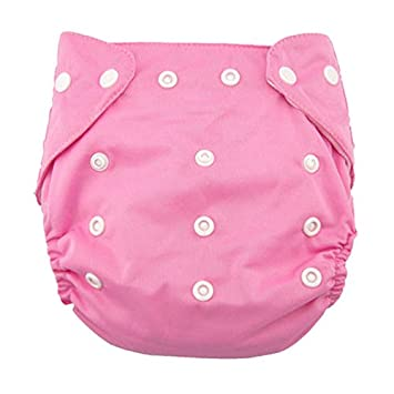 Pink Koly/® Newborn Baby Cloth Diaper Adjustable Reusable Washable Nappy Non-Disposable Nappies