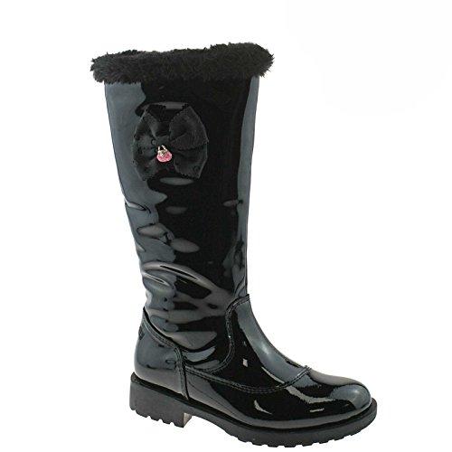 Lelli Kelly LK3698 (DB01) Frances Nero Vernice fur Lined Boots -28 (UK 10)