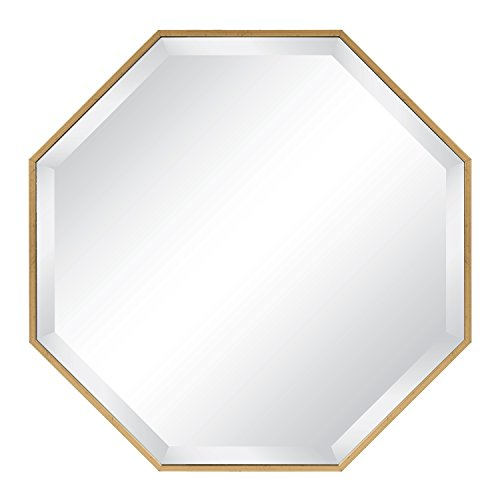 (Kate and Laurel Rhodes Octagon Framed Wall Mirror 24.75x24.75 Gold)