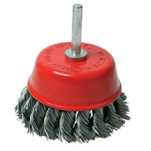 75mm Twist-knot Cup Wire Brush Bit Wheel - For Drill - Paint/rust Removal