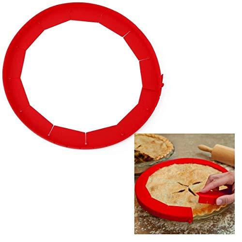 Hoocozi 2Pcs Silicone Pie Crust Shield, Adjustable Pie Protectors, BPA-free, Fits 8.5