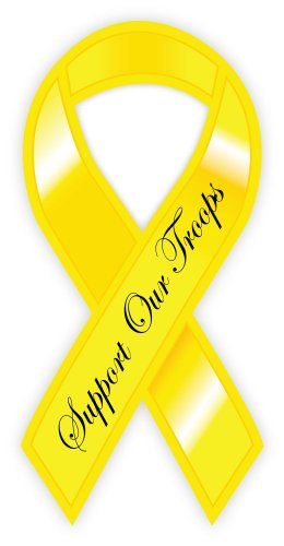 - Yellow ribbon Support Our Troops sticker decal 3