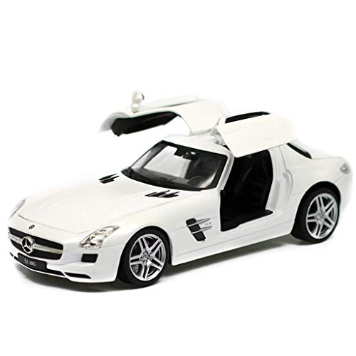 - Chef Vehicle Playsets Simulation 1:24 Mercedes - Mercedes-Benz SLS AMG Sports Car Seagull Wings Car Door Alloy Collection Decorative Gifts ( Color : White )