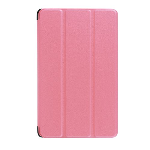 NEWSTYLE Case for Fire 7 2015 - Ultra Shell Lightweight Tri-fold Stand Cover for Amazon Fire 7 Inch Tablet(5th Generation 2015 release ONLY), Pink