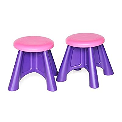 Custom-Pak Kids Chairs, 2 Durable Plastic Toddler Chair Seats, USA.: Kitchen & Dining