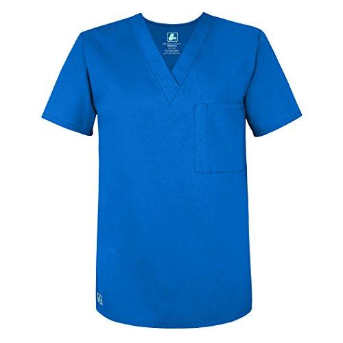 Adar Universal Unisex V Neck Tunic 1 Pocket - 6011 - Regal Blue - - Peaches Uniforms Tunic V-neck